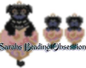Black Pug Love Set id 15041