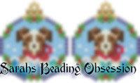 Red Aussie Shepherd Snowglobe Earrings id 14719