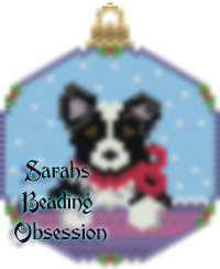 Black Border Collie Snowglobe Ornament id 14700