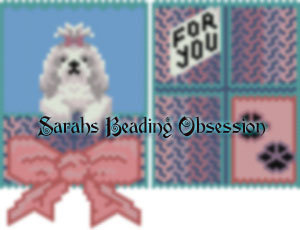 Lhasa Apso Dusty Bow Gift Pouch id 16722