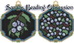 Blueberries Ornament Set id 13192