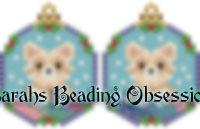 Pomeranian Snowglobe Earrings id 14762