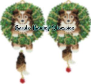 Sheltie Sable Wreath Charm id 15753