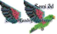 Eclectus Male Parrot Semi 3d Decoration id 16189