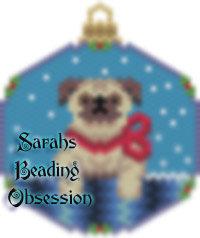 Pug Snowglobe Ornament id 14885