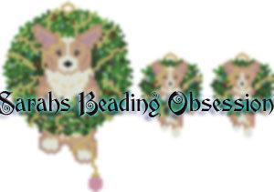 Light Corgi Wreath Set id 16555