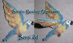 Blue Throated Macaw Semi 3D Decoration id 13255
