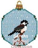 Chickadee Snowglobe Ornament id 12898