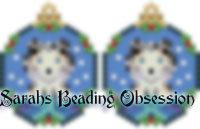 Sheltie Blue Merle Snowglobe Earrings id 14687