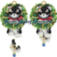 Malamute Wreath Earrings id 8933
