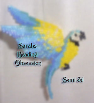 Blue and Gold Macaw Semi 3D Decoration id 3101
