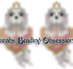 Lhasa Apso Dusty Love Earrings id 14442
