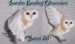 Barn Owl Semi 3d Decoration id 3882