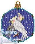 Cockatiel Snowglobe Ornament id 13413
