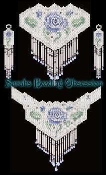 Dusk Bridal Rose Jewelry Set id 10119