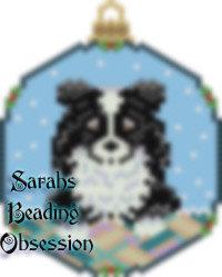 Sheltie Tuxedo Snowglobe Ornament id 13986