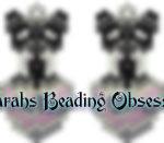Schnauzer Black Silver Love Earrings id 14649