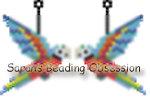 Harlequin Macaw Earrings id 15233