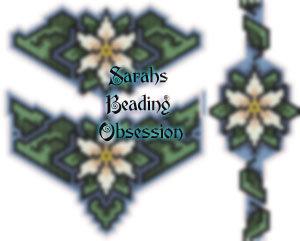 White Poinsettia Jewelry Set id 11390