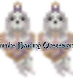Lhasa Apso Dusty Bow Love Earrings id 14445