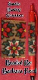 Poinsettia Reds Pen Cover id 15768