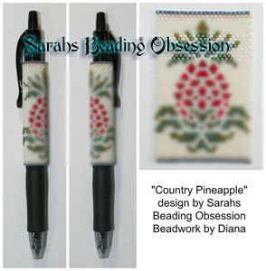 Country Pineapple Pen Cover id 16265
