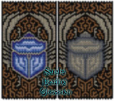 Sapphire Scarab Pouch id 14399