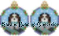 King Charles Spaniel Tri-Color Snowglobe Earrings id 14256