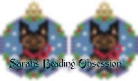 Belgian Tervuren Snowglobe Earrings id 14728