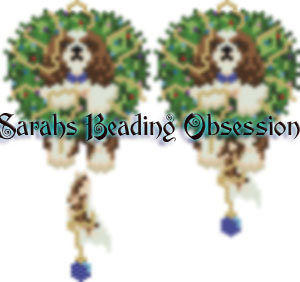 Cavalier King Charles Spaniel Blenheim Wreath Charm id 15136