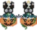 Pitty Tuxedo Pumpkin Earrings id 13924
