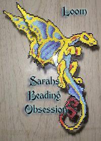 Semi 3D Butterfly Dragon Decoration sq id 3494