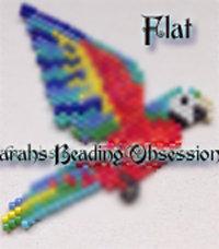 Harlequin Macaw Flat Decoration id 15210