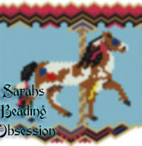 Carousel Painted Pony Panel id 3523