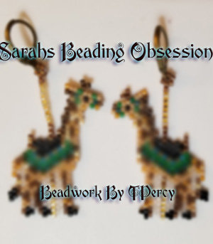 Carousel Giraffe Earrings 15462