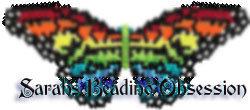 Rainbow Monarch Butterfly Barrette Pey id 4262