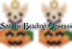 Fawn Chihuahua Pumpkin Earrings id 15029