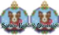 Red Border Collie Snowglobe Earrings id 14707