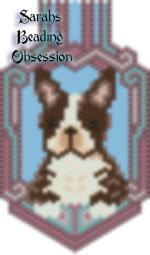 Brown Boston Terrier Keychain id 16624