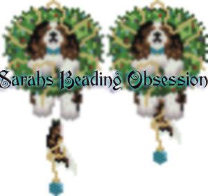 King Charles Spaniel Tri-Color Wreath Charm id 15126
