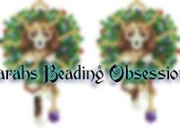 Beagle Wreath Earrings id 14666