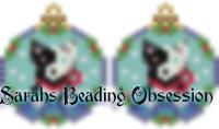 Border Collie Phantom Snowglobe Earrings id 14704