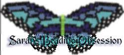 Blue Monarch Butterfly Barrette Pey id 4567