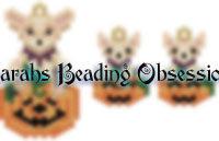 Fawn Chihuahua Pumpkin Set id 15030