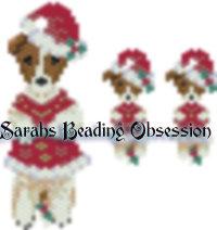Jack Russell Santa Wiggle Set id 13802