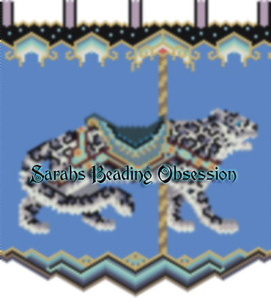 Carousel Snow Leopard Tapestry id 15083