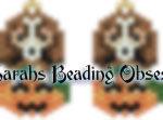 Beagle Pumpkin Earrings id 14660