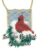 Snowy Cardinal with 3D Wing Pendant id 2868