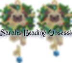 Pug Wreath Earrings id 15764