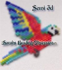 Harlequin Macaw Semi 3D Decoration id 15231